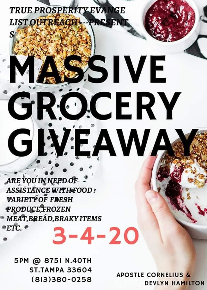 March 4 Massive Grocery Giveaway