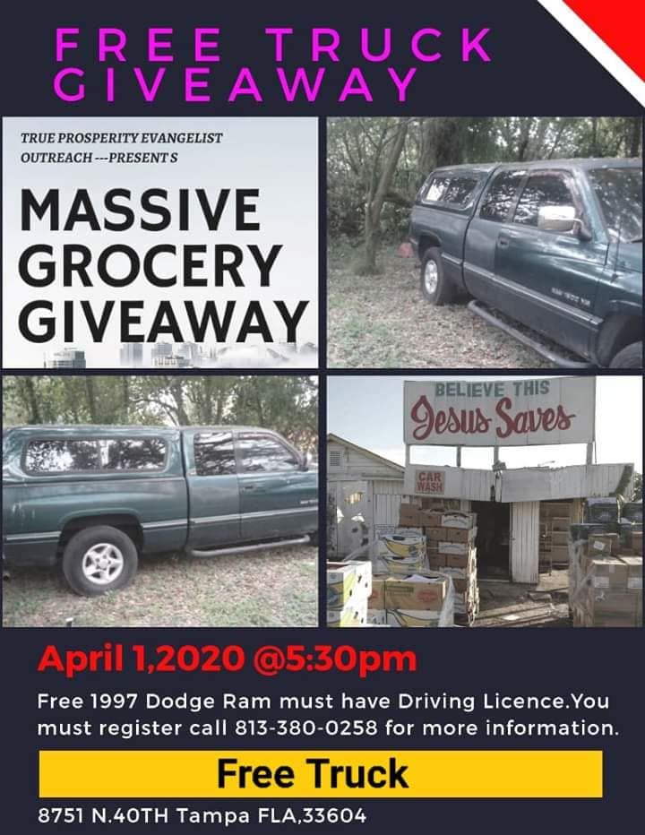 April 1 2020 Truck Giveaway